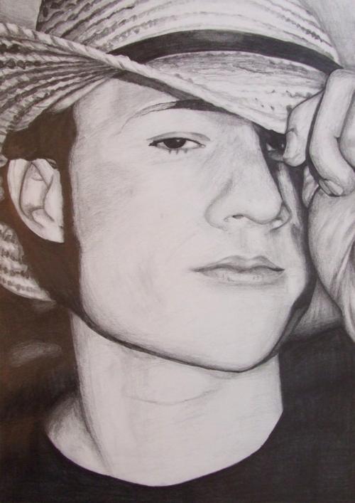 Heath Ledger, A3, graphite pencil, personal collection