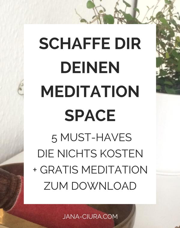 Richte dir deine Meditationsecke ein für deinen Einstieg in die Meditation - zum Blog Post