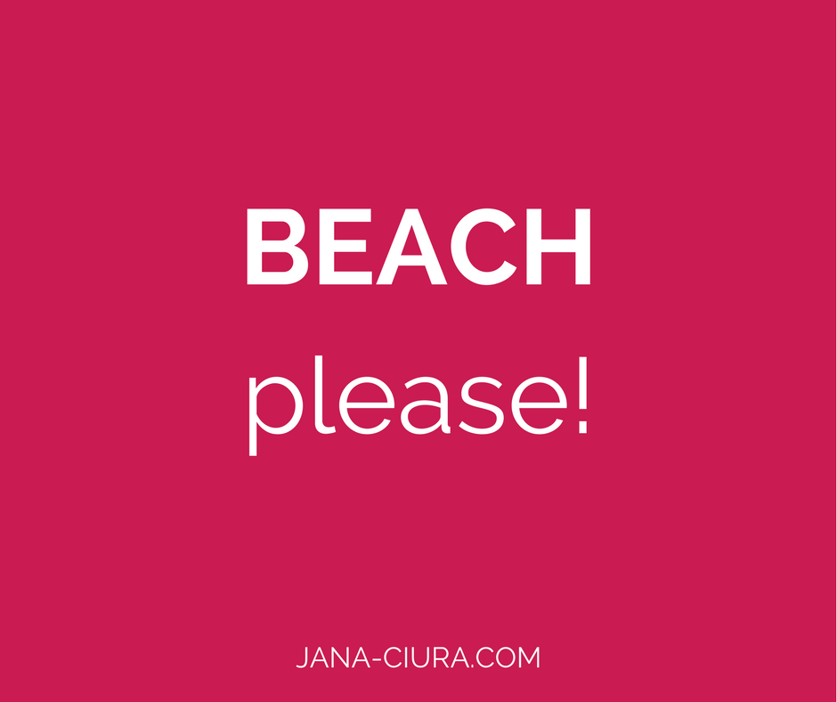 Einfache Achtsamkeitsübung Gedankenreise Tag am Strand.
