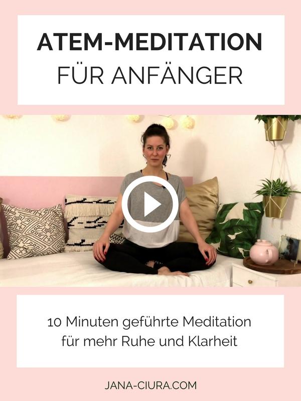 Geführte Atemmeditation auf Deutsch für Anfänger auf YouTube.