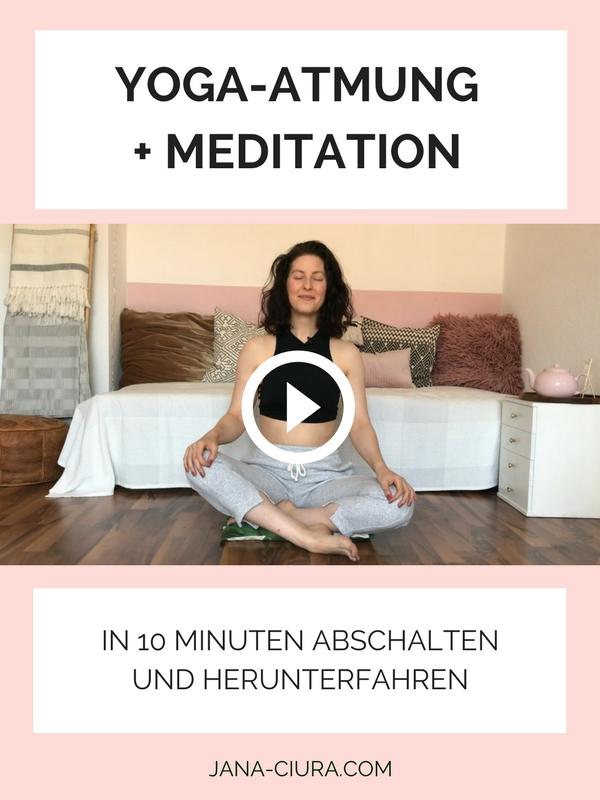 Eine Atemübung (Pranayama) mit Meditation zum Entspannen und Herunterfahren - YouTube Video