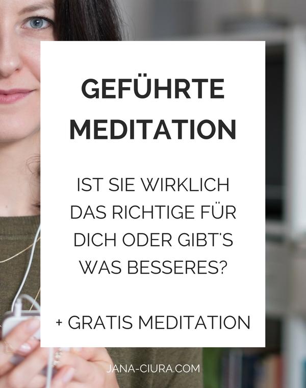 Ist die geführte Meditation gut zum Start oder gibt es bessere Alternativen? Zum Blogpost