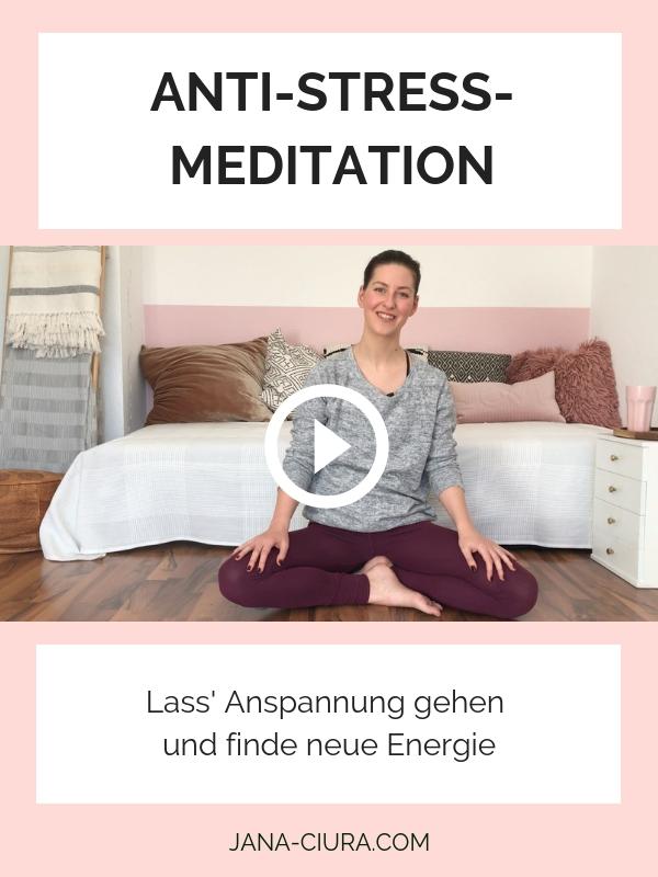 Kurze Meditation gegen Stress für Anfänger - YouTube Video