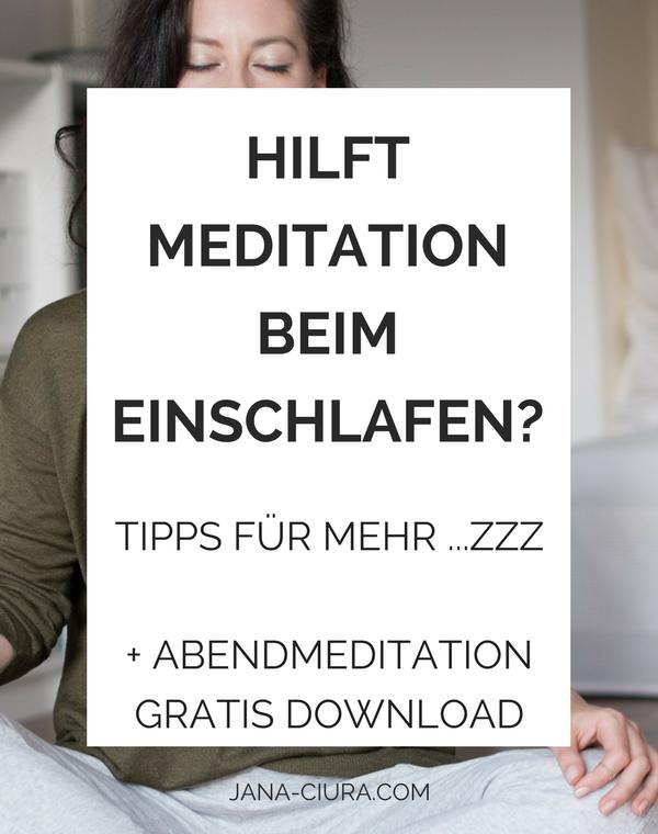 Hilft Meditation bei besser zu schlafen? - Mehr Infos im Blogpost