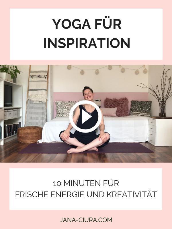 Yoga für Kreativität und Inspiration - YouTube Video