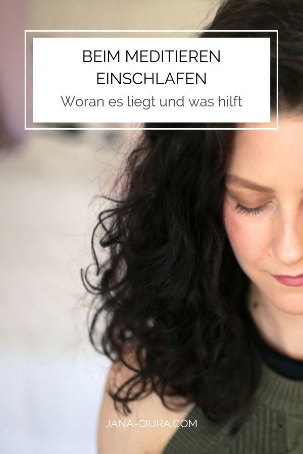 Ist es normal beim Meditieren einzuschlafen? Was hilft dagegen? Infos und Tipps im Blogpost | jana-ciura.com
