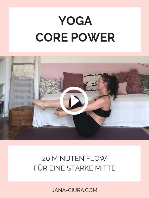 Yoga für einen starken Bauch - YouTube Video