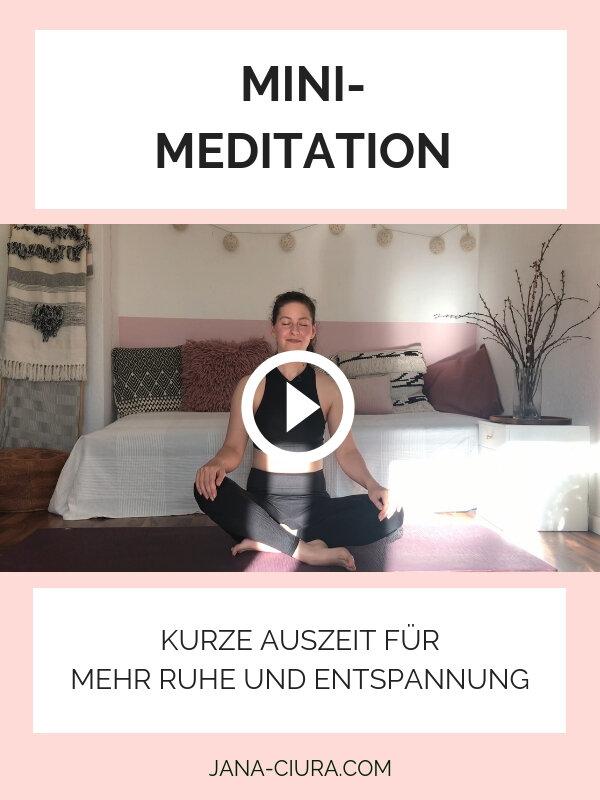 Kurze Meditation für Ruhe und Entspannung - YouTube Video