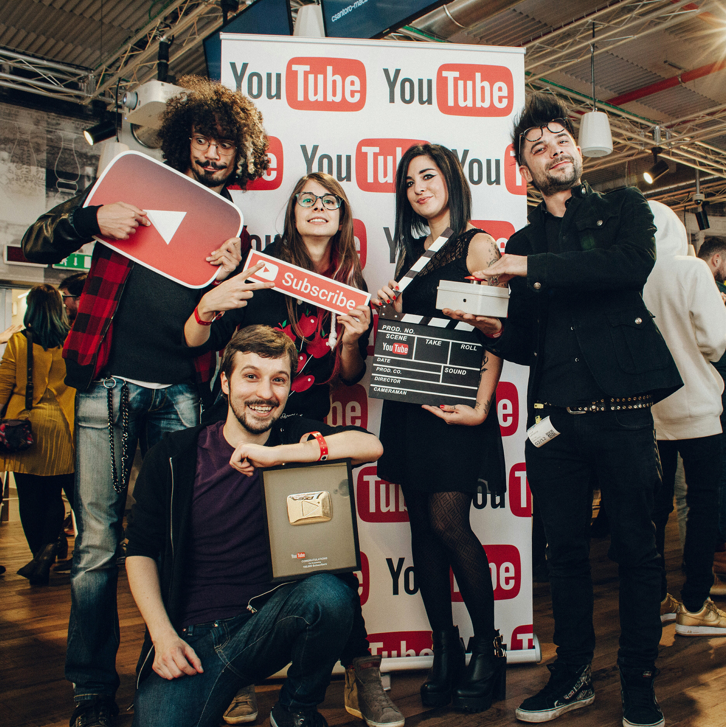 Youtube Christmas Party, Elia Bombardelli con Fraffrog, RichardHTT e Scherzi di Coppia