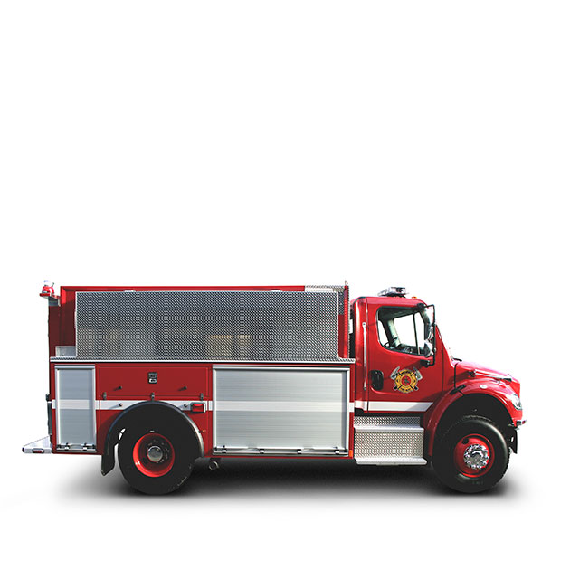 MALAKWA   FIRE DEPARTMENT   Built on a Freightliner M2 Chassis, Malakwa's Tanker Engine utilizes a Cummins ISC and an Allison EVS 3000 transmission which yields 330 horse power.