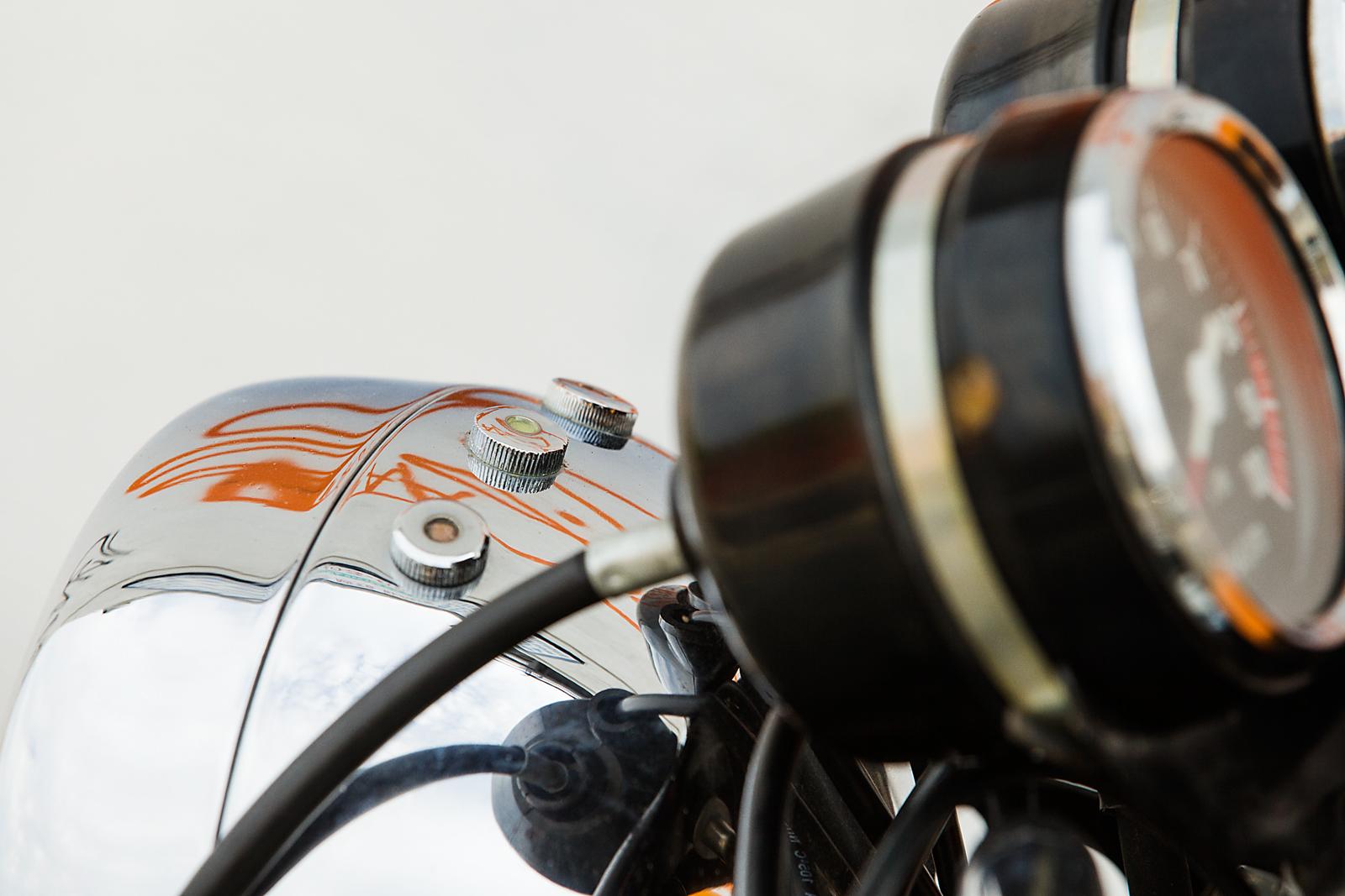 1974 Ducati 750S headlight