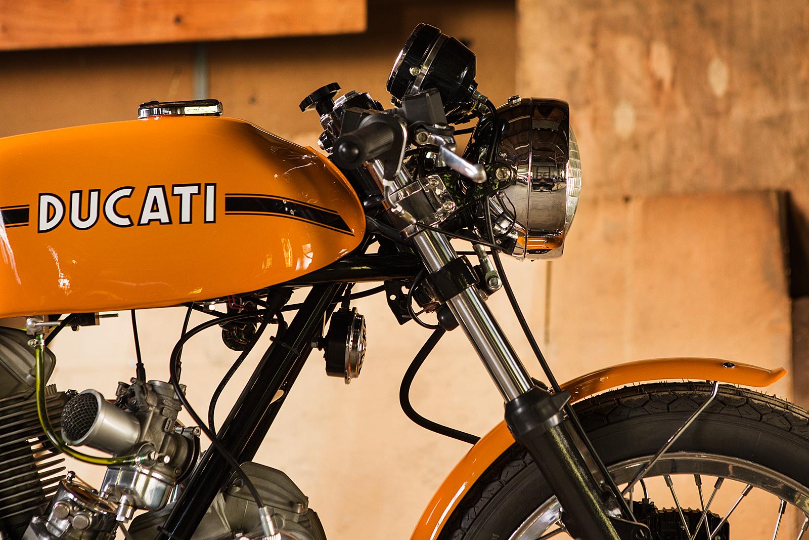 1974 Ducati 750S Sport forks tank