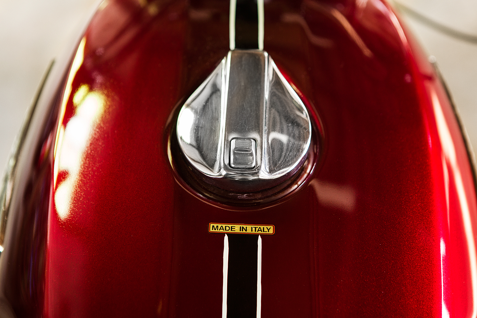1974 Ducati 750 GT gas cap pin stripe