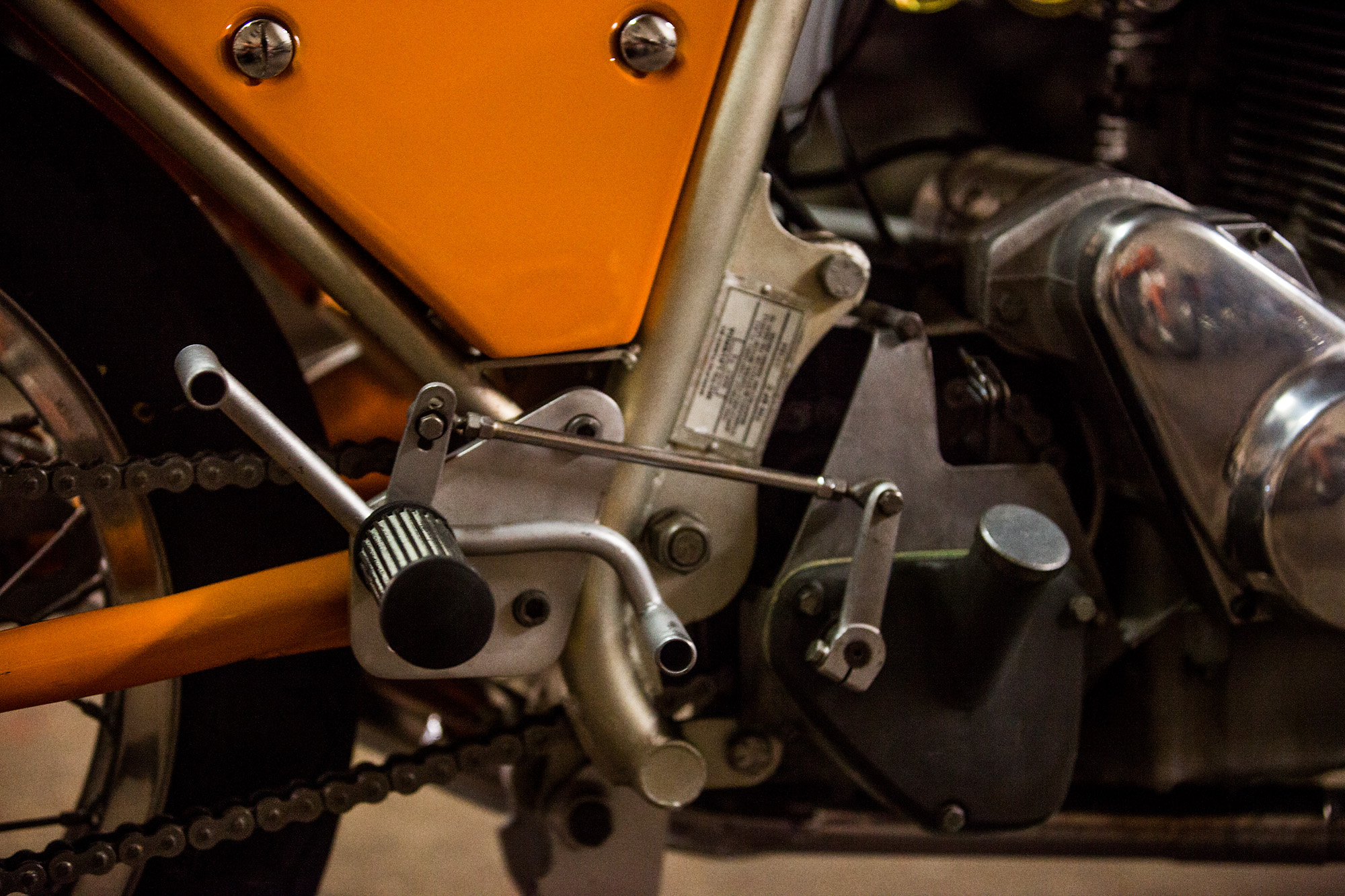 1974 Laverda SFC shifter