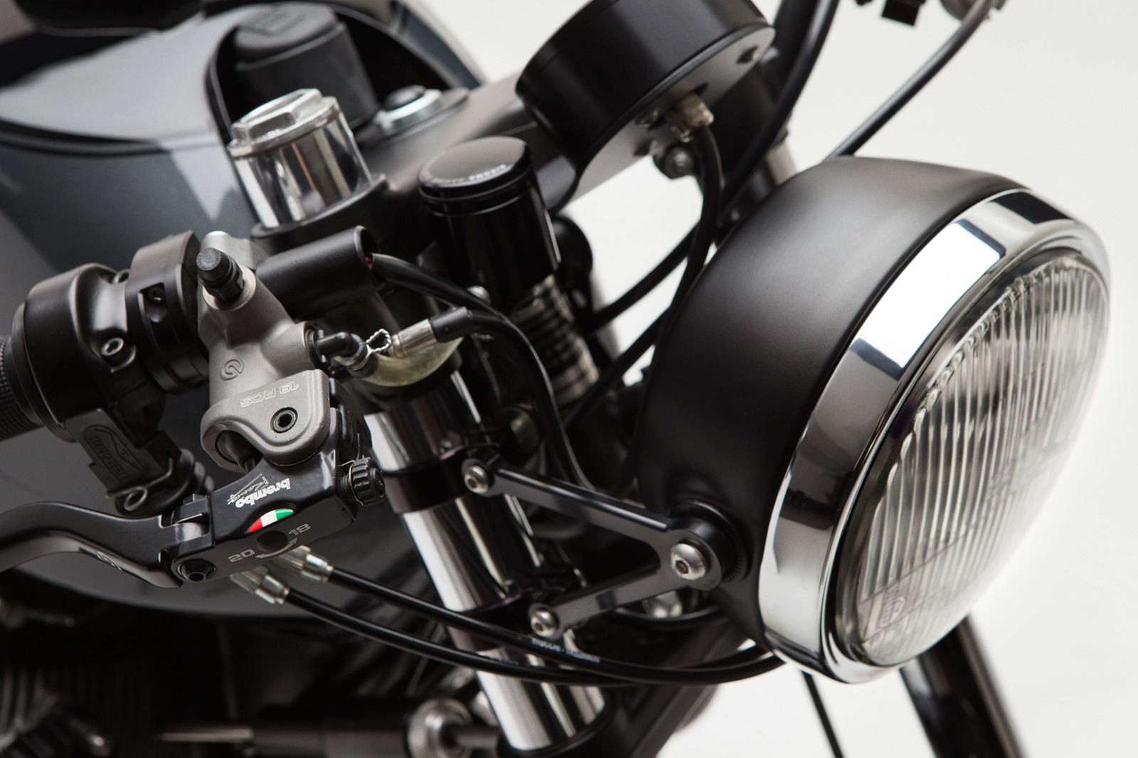 Moto Borgotaro Custom Moto Guzzi Lemans headlight