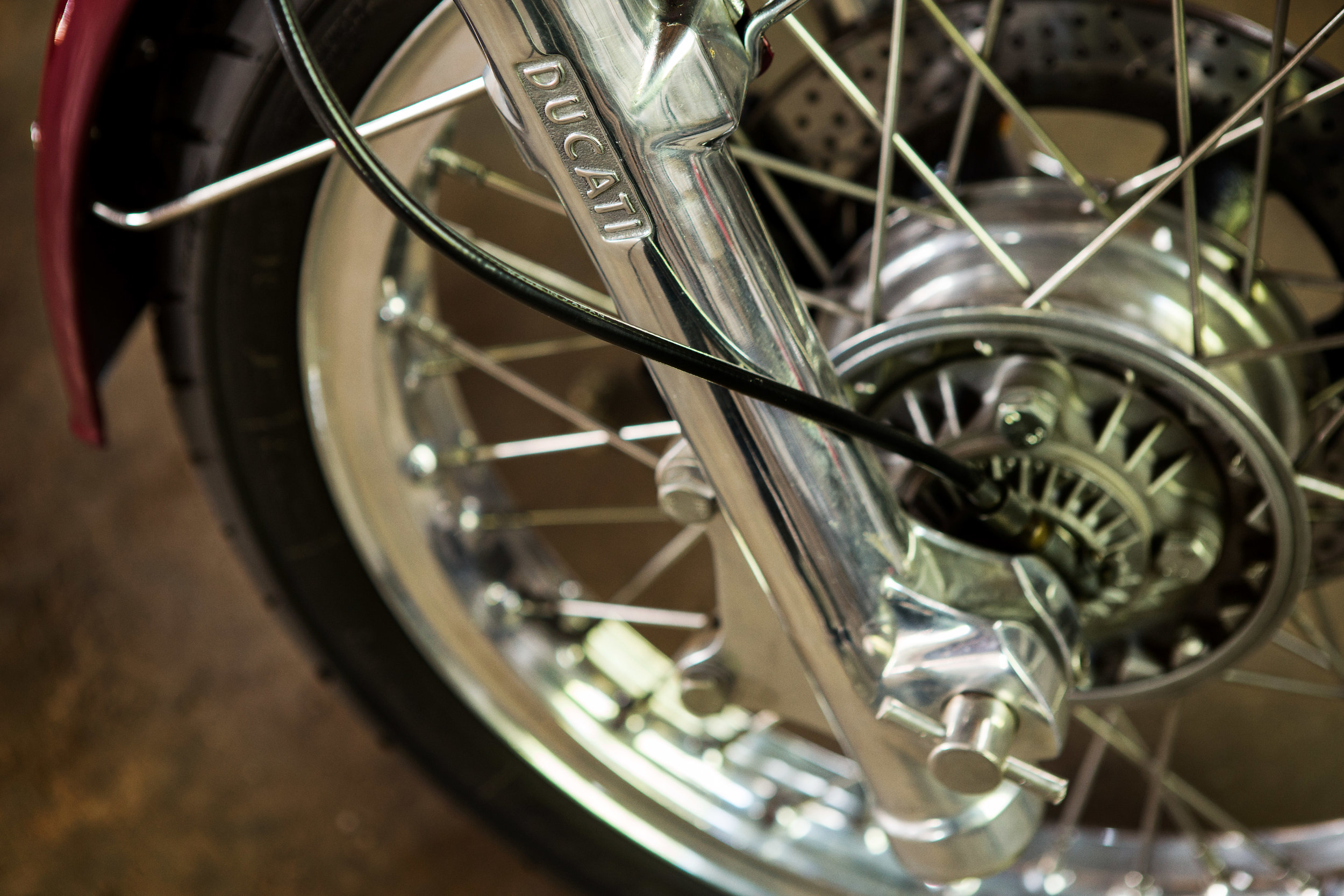 1974 ducati 750 GT wheel