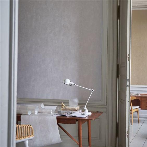 Parchment Steel Wallpaper, Designers Guild