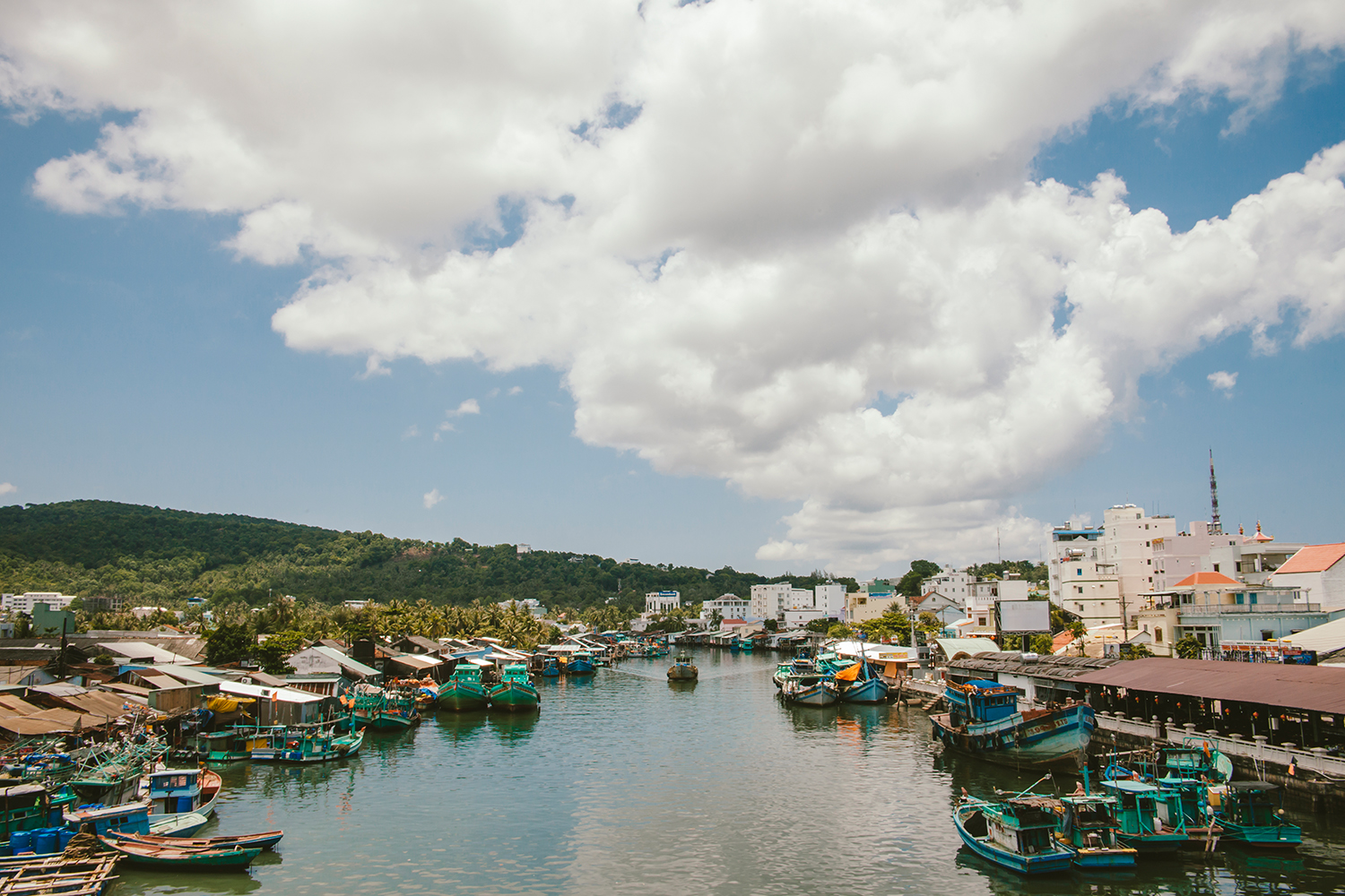 A view from the bridge in Phu Quoc Island