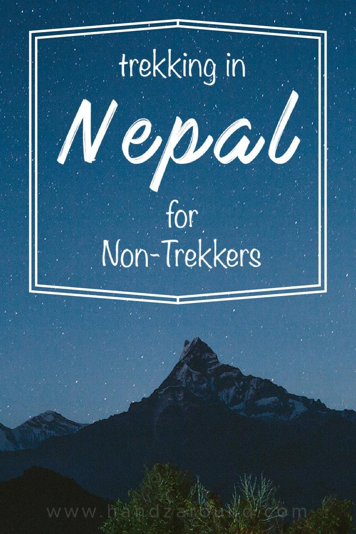Trekking in Nepal for non-trekkers handzaround night