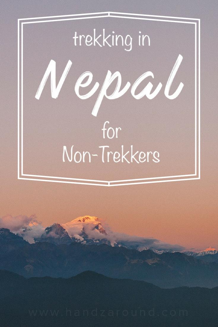 Trekking in Nepal for non-trekkers handzaround sunrise
