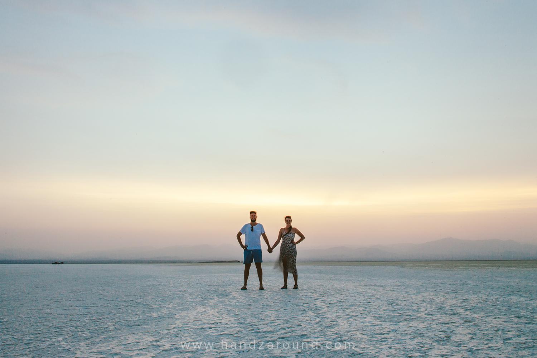 Lake Assale, a tripod & us