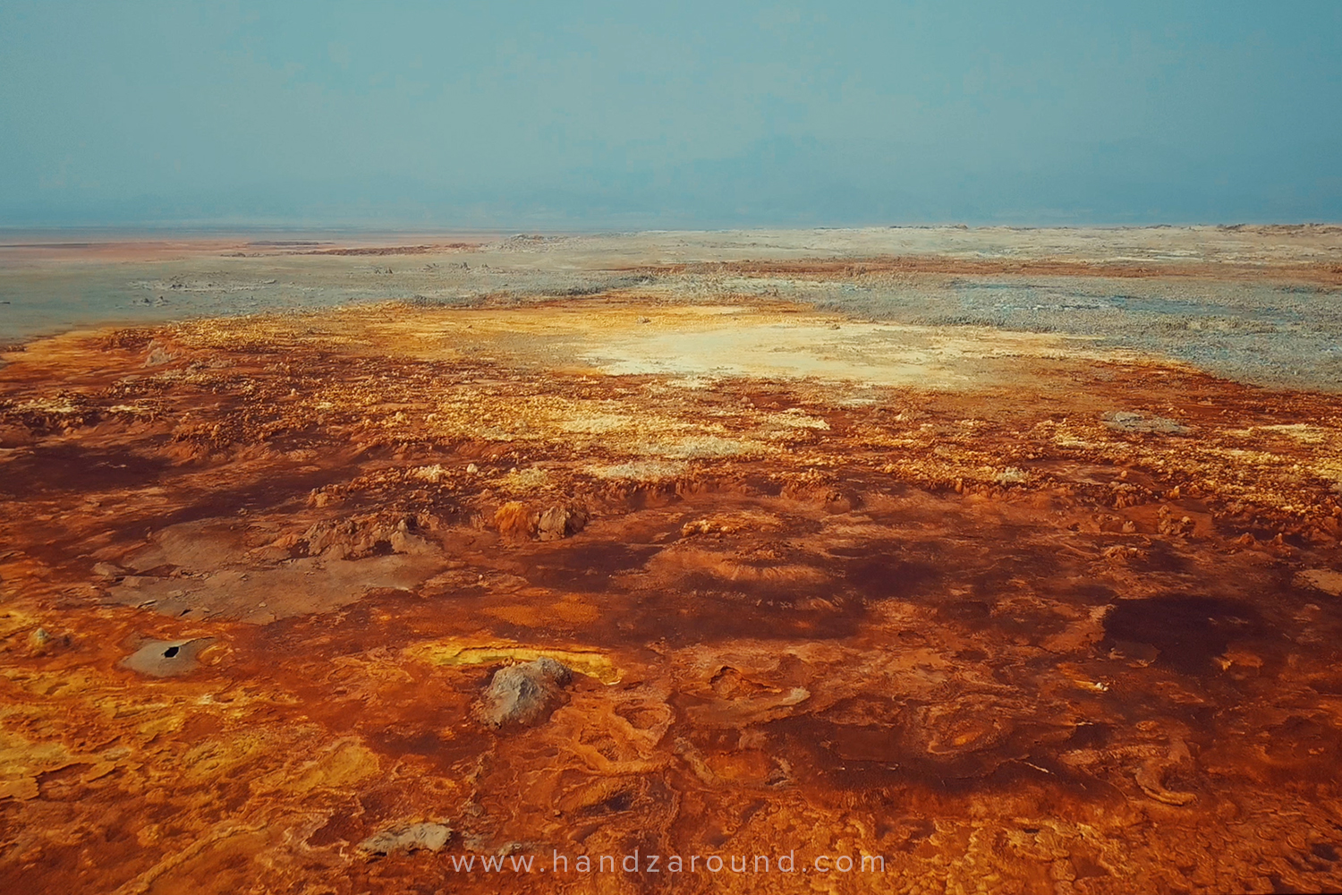 Aerial view of Dallol