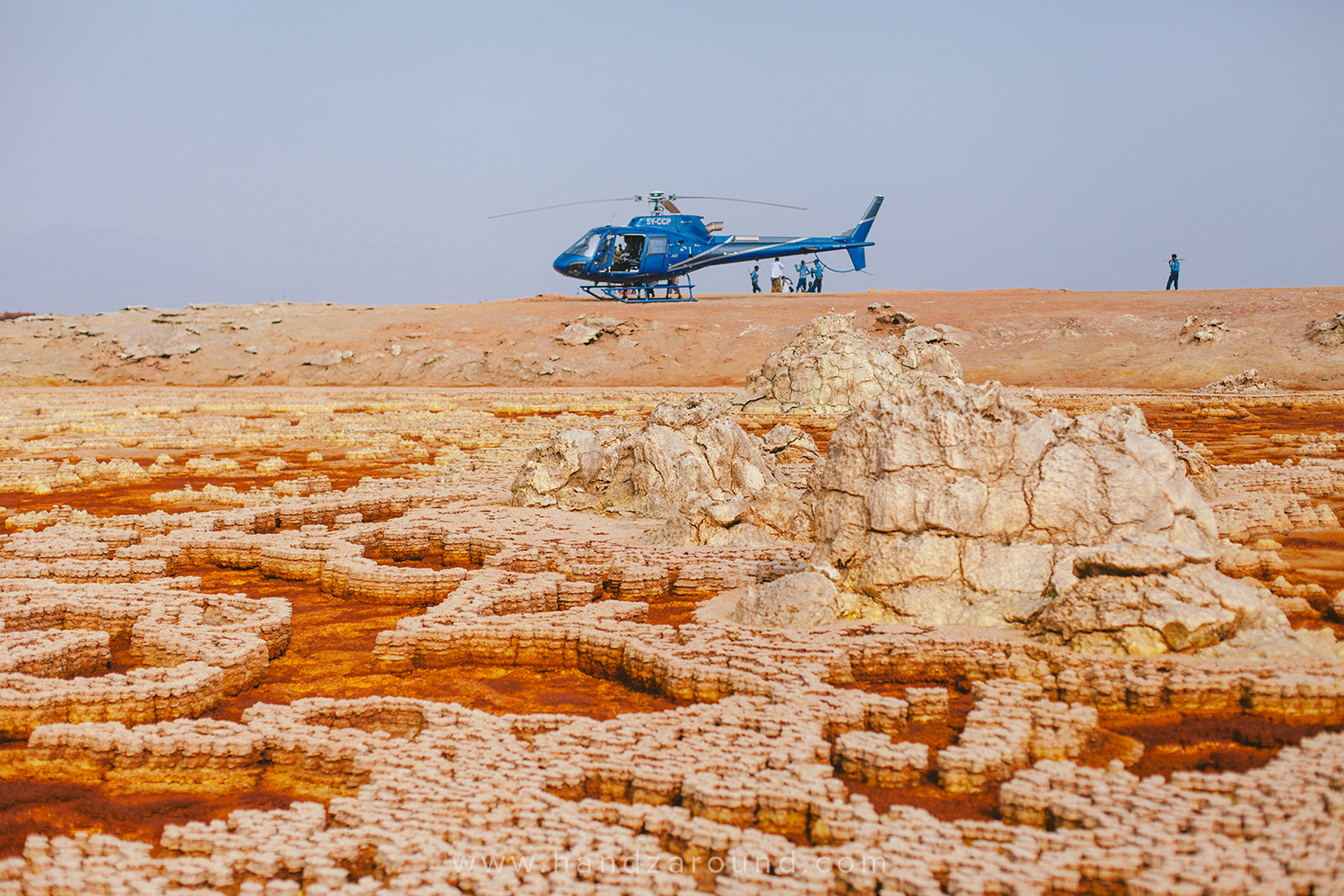 Some tourists arrived to Dallol in a very posh way!