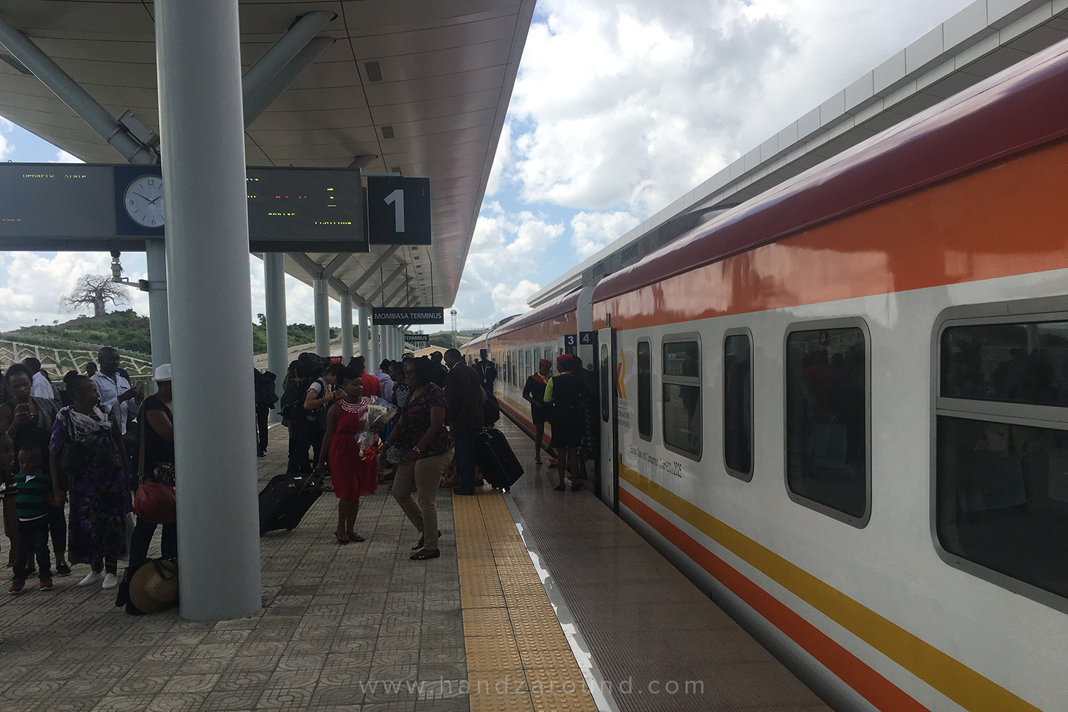The SGR train from the outside