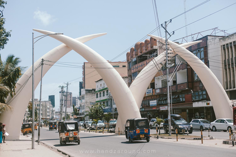 Giant Elephant Tusks in Moi Avenue