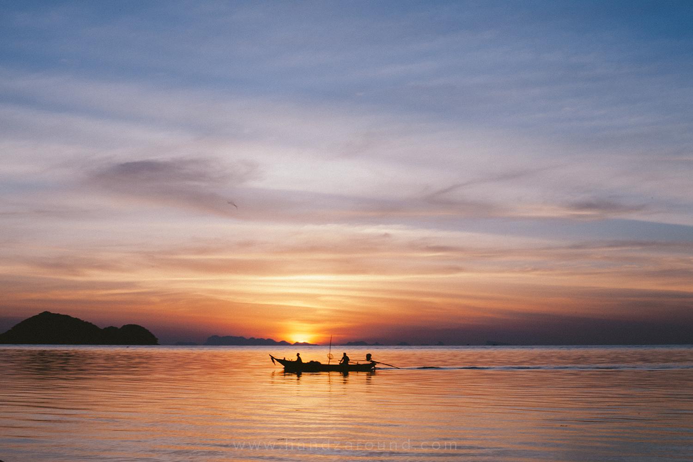 Sunset in Koh Phangan island