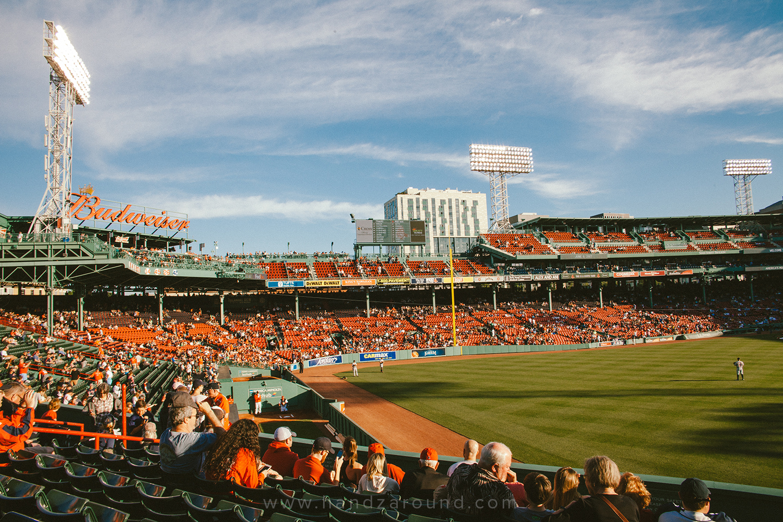 Baseball match in Boston at Fenway Park