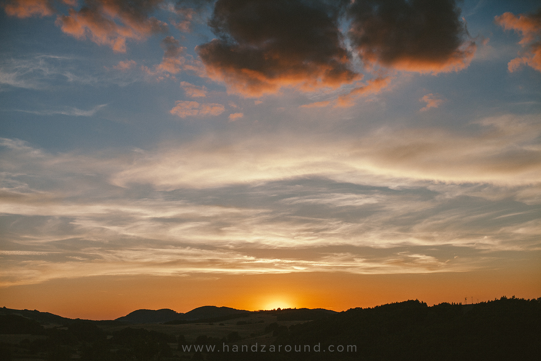 Sunset in Hanna's hometown