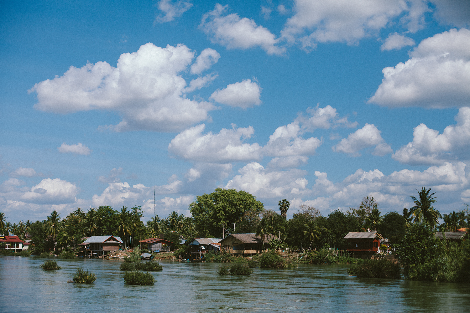 10. Don Det, Laos - Cycling around the island on the little dirt tracks.Swimming in the Mekong River alongside the local buffalos.Stunning sunset views every evening from the little beach.