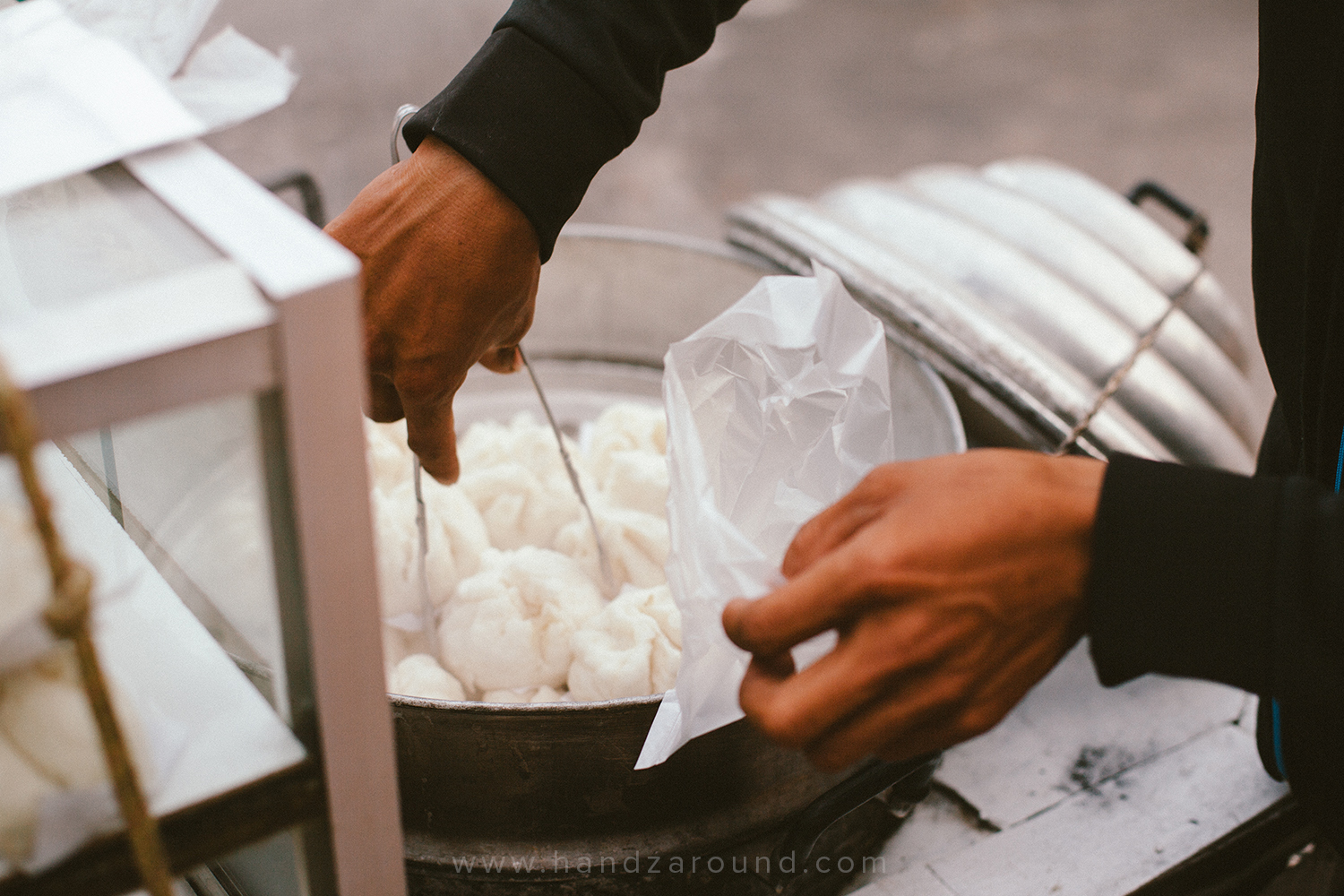 Steam buns from the street vendor