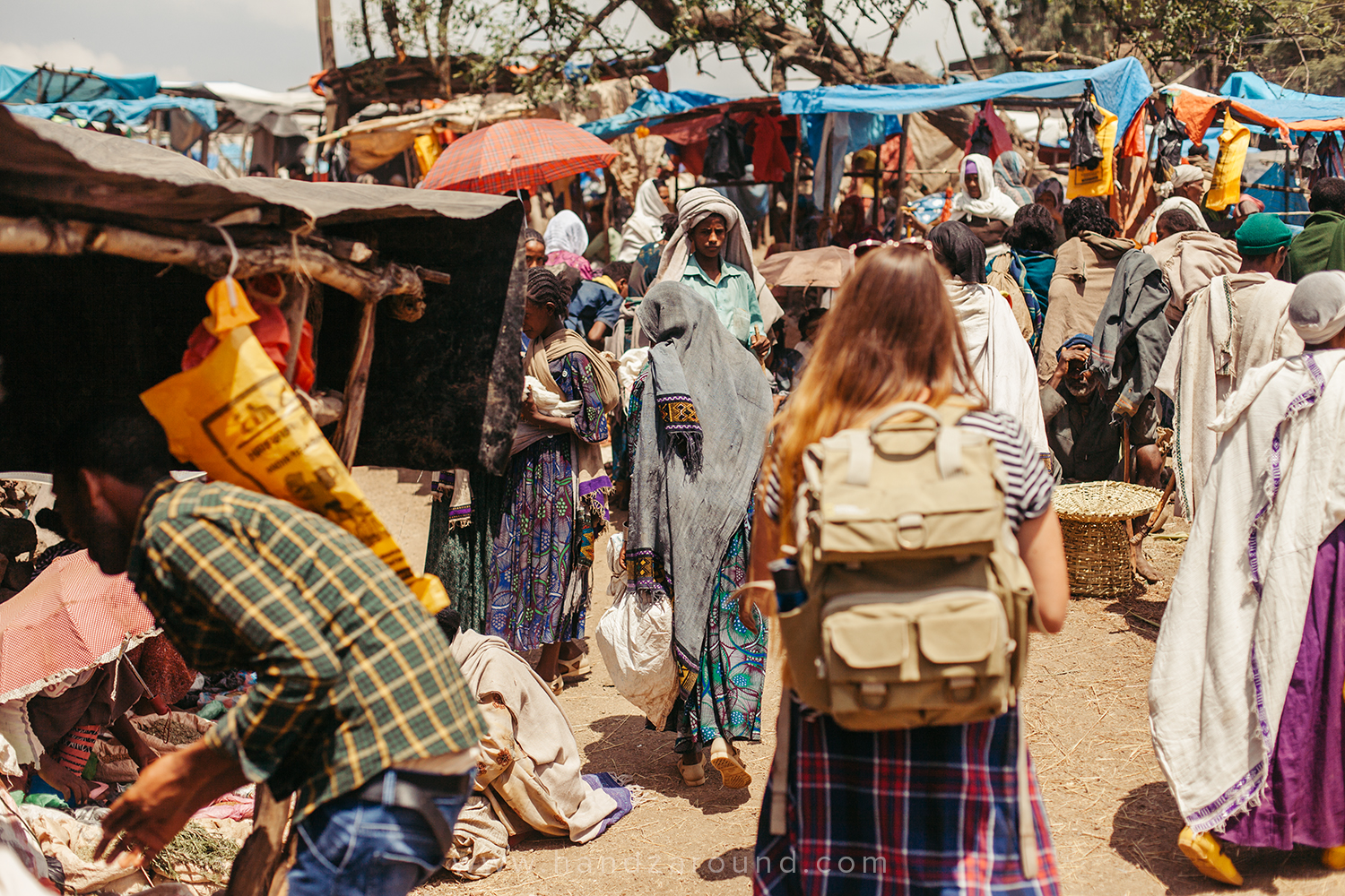 Walking around the Saturday market in Lalibela