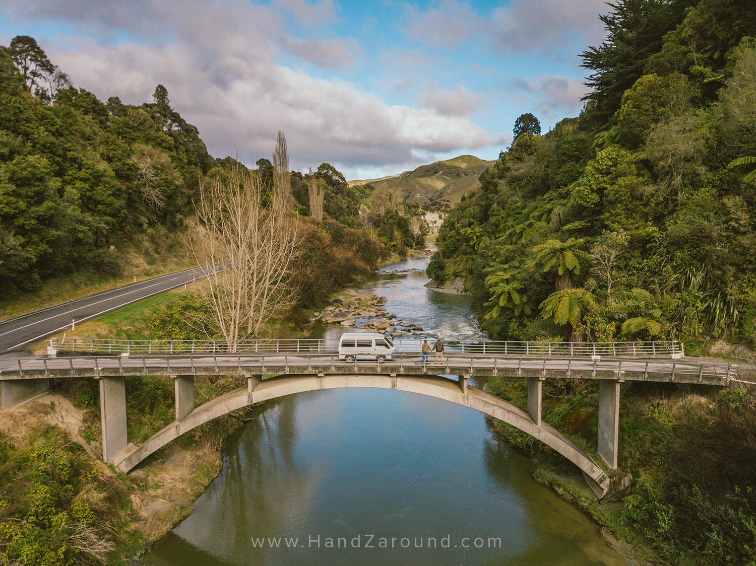 Epic Camper & us on the way from Ohakune to Wellington