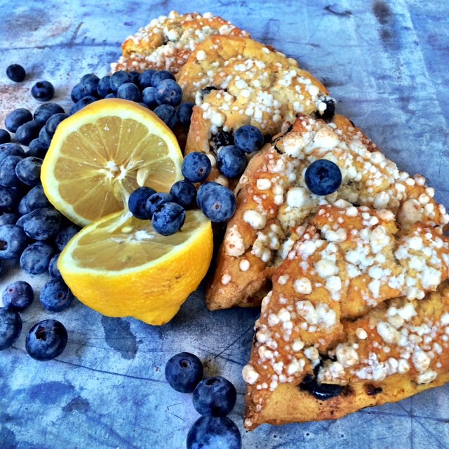 Luscious Lemon Blueberry Scones by Heritage Scones, Boise Idaho. Find them baked fresh daily at @luckyperk coffee in Meridian and Caffe Capri in Boise, @idahocaffecapri.