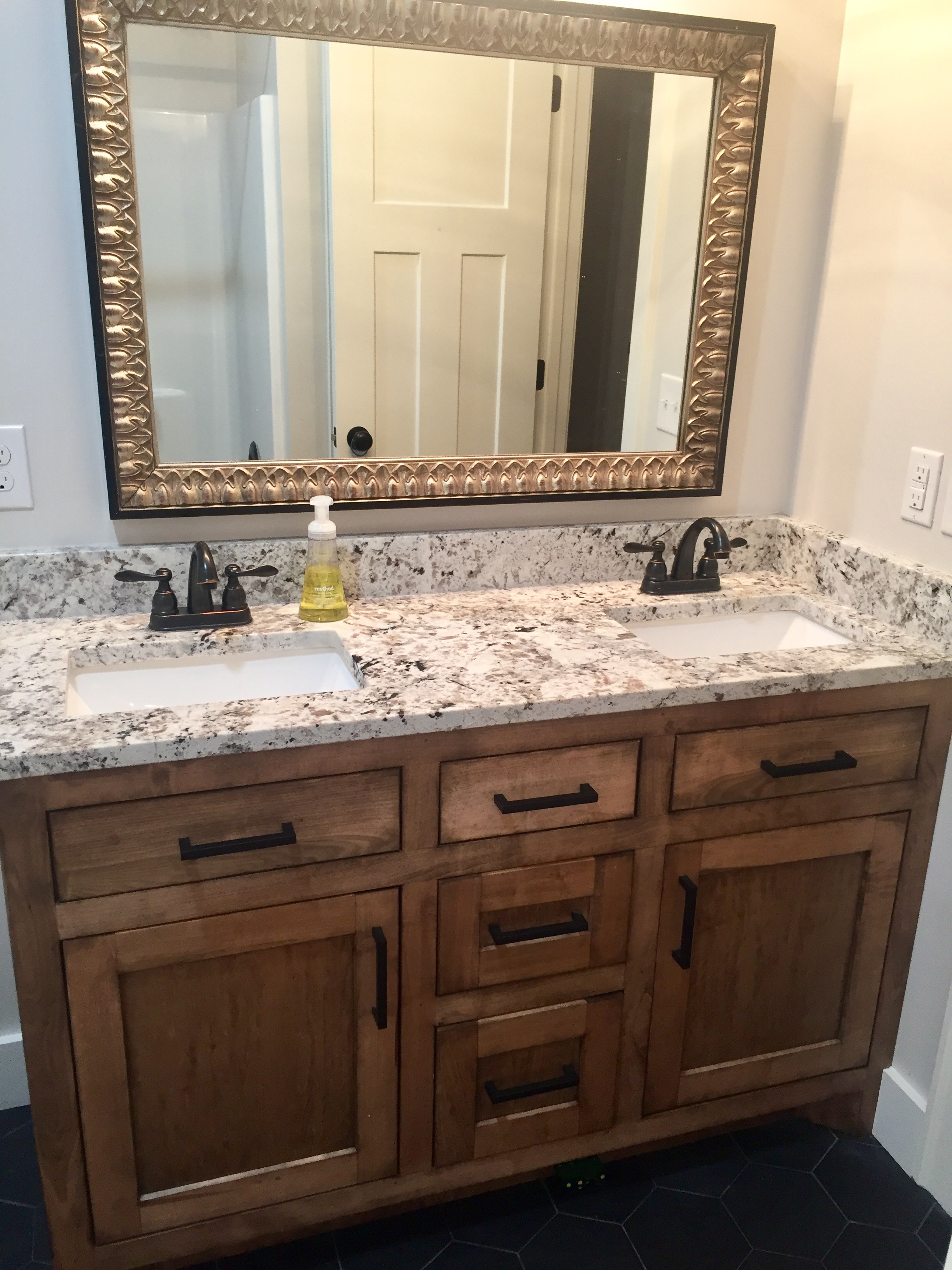 Walnut Double Sink Vanity