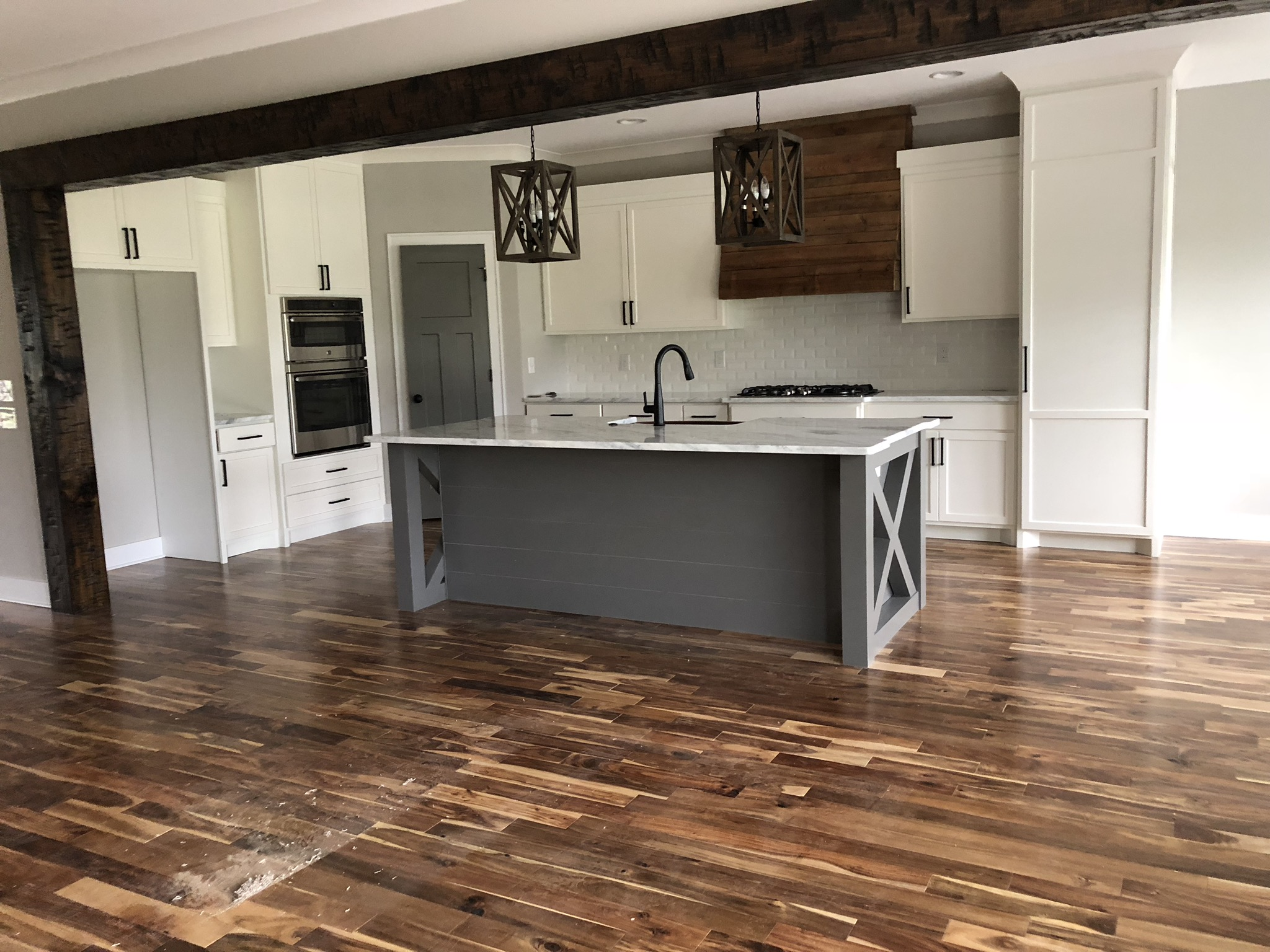 *Spoiler Alert - This is a sneak peak photo of a custom farmhouse kitchen we will be revealing on our blog very soon!