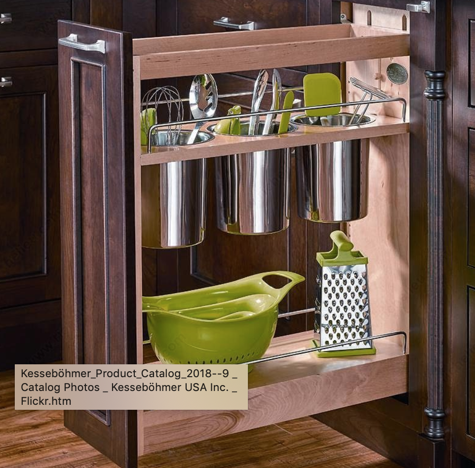 Pull Out Utensil Organizer