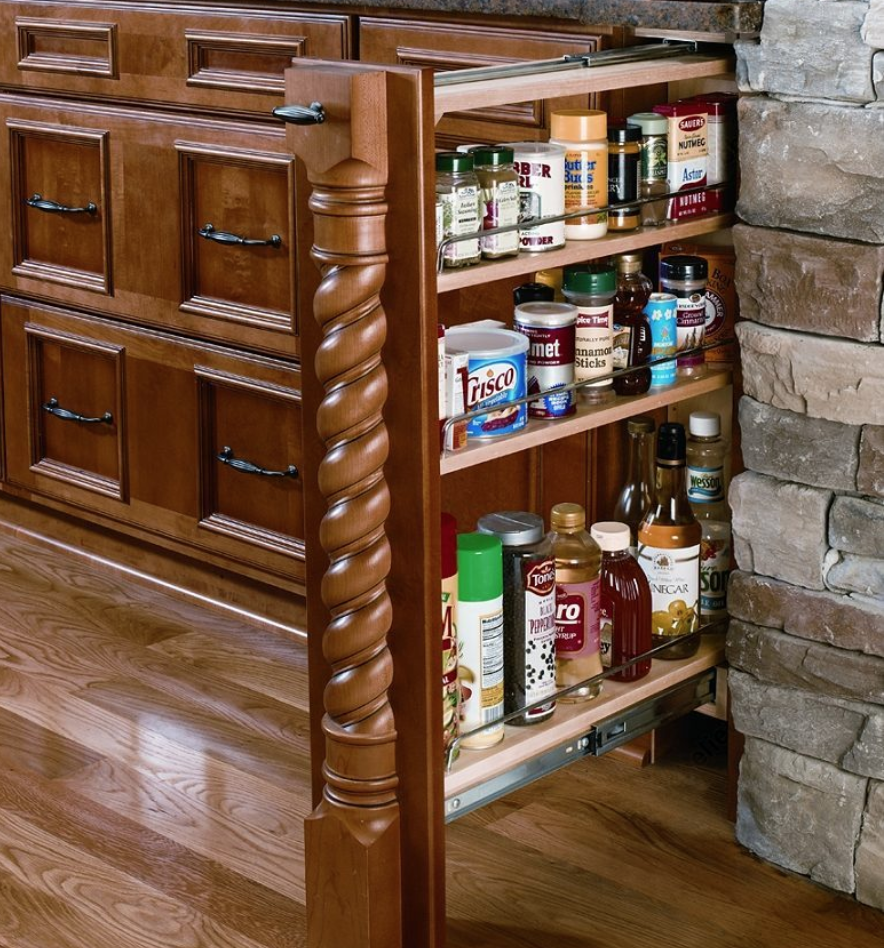 Concealed Spice Rack Pullout