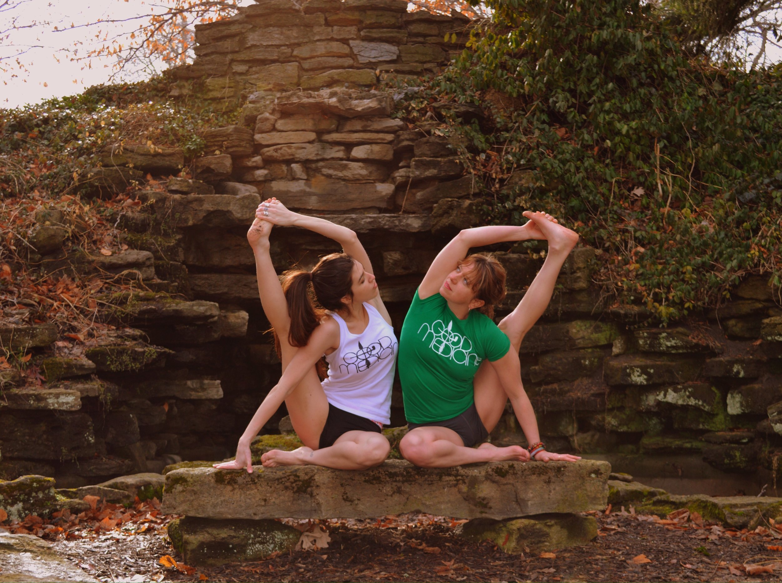 Amber gean and business partner yanna nicole founders of Yoga ah Studio in Cincinnati, ohio.