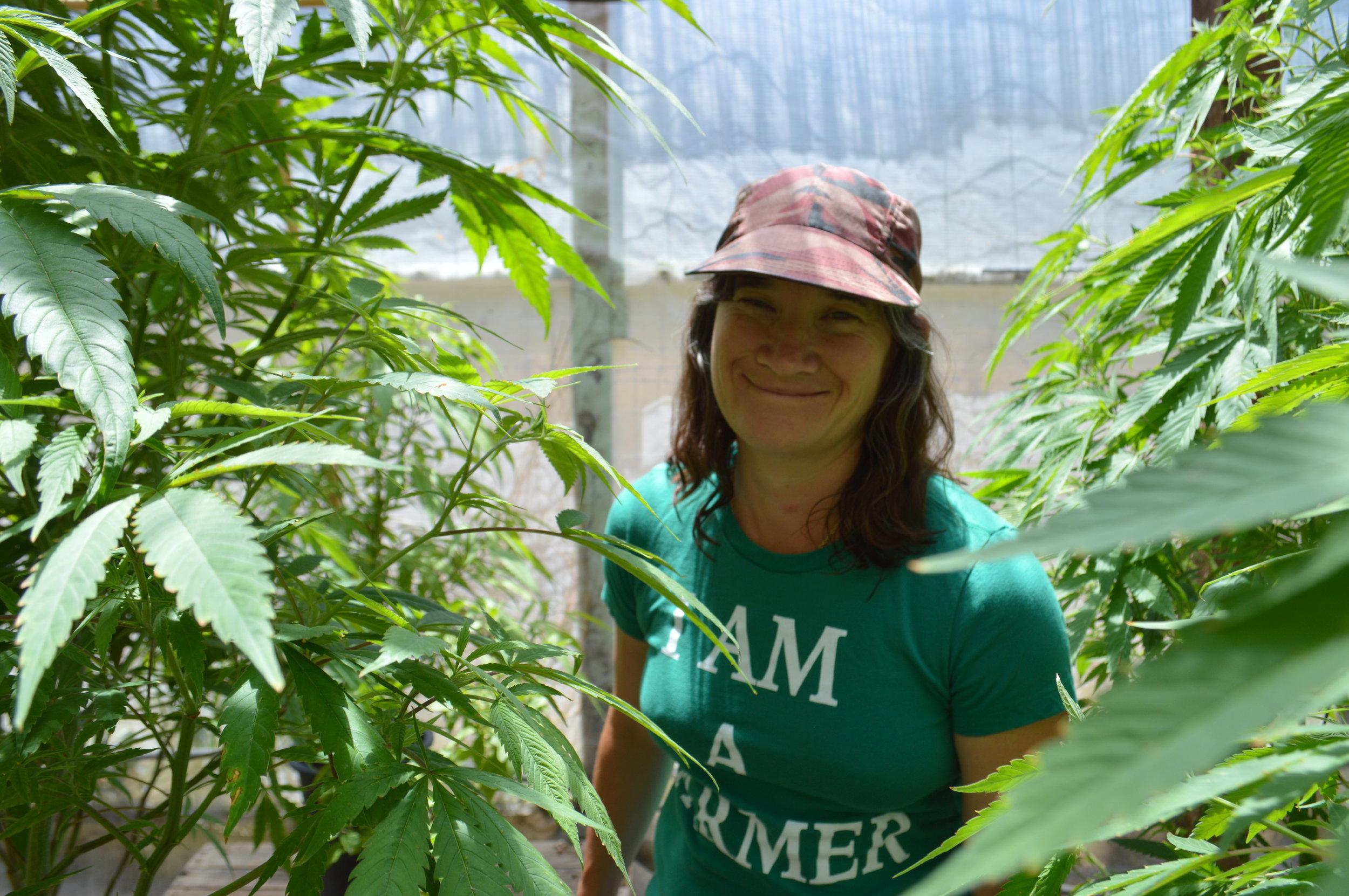 Sunshine johnston in her garden. photo: sharon letts