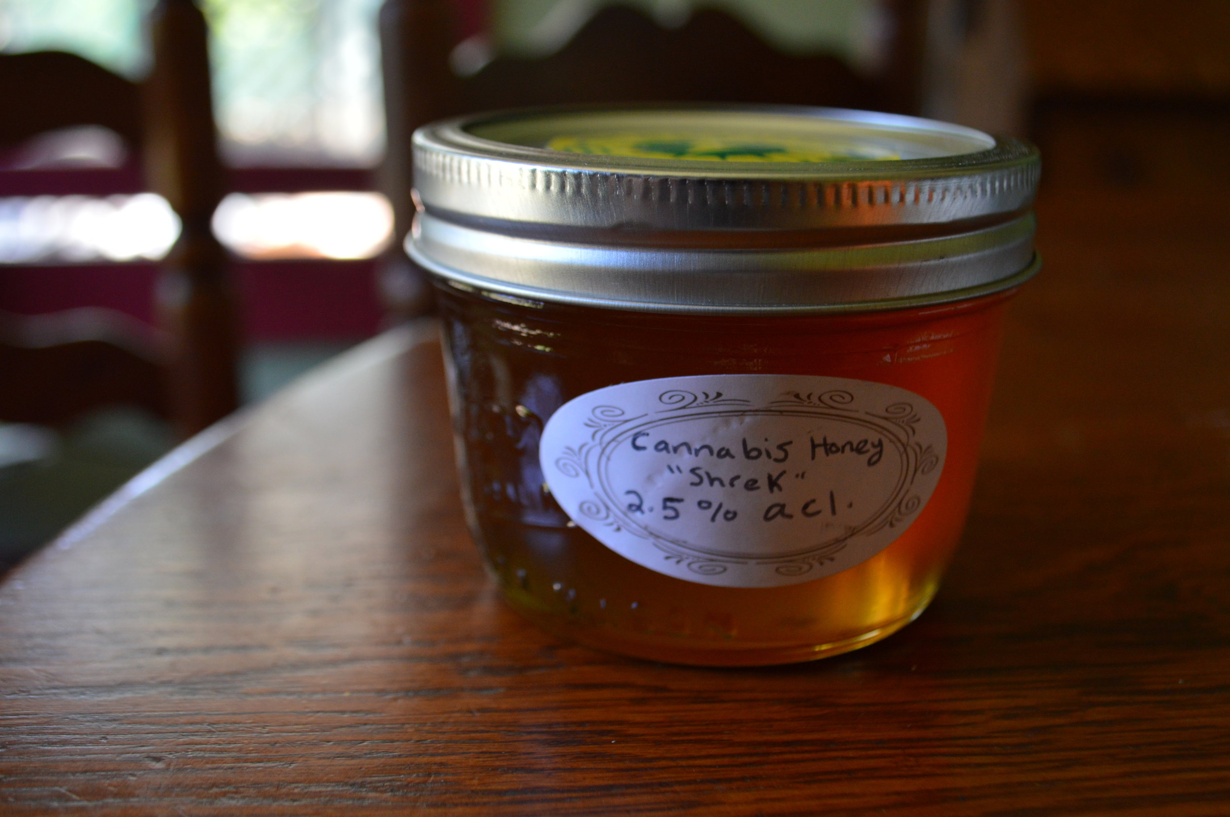 "infused Honey made from strain ""shrek"" by sunboldt grown co-op. photo: sharon letts"