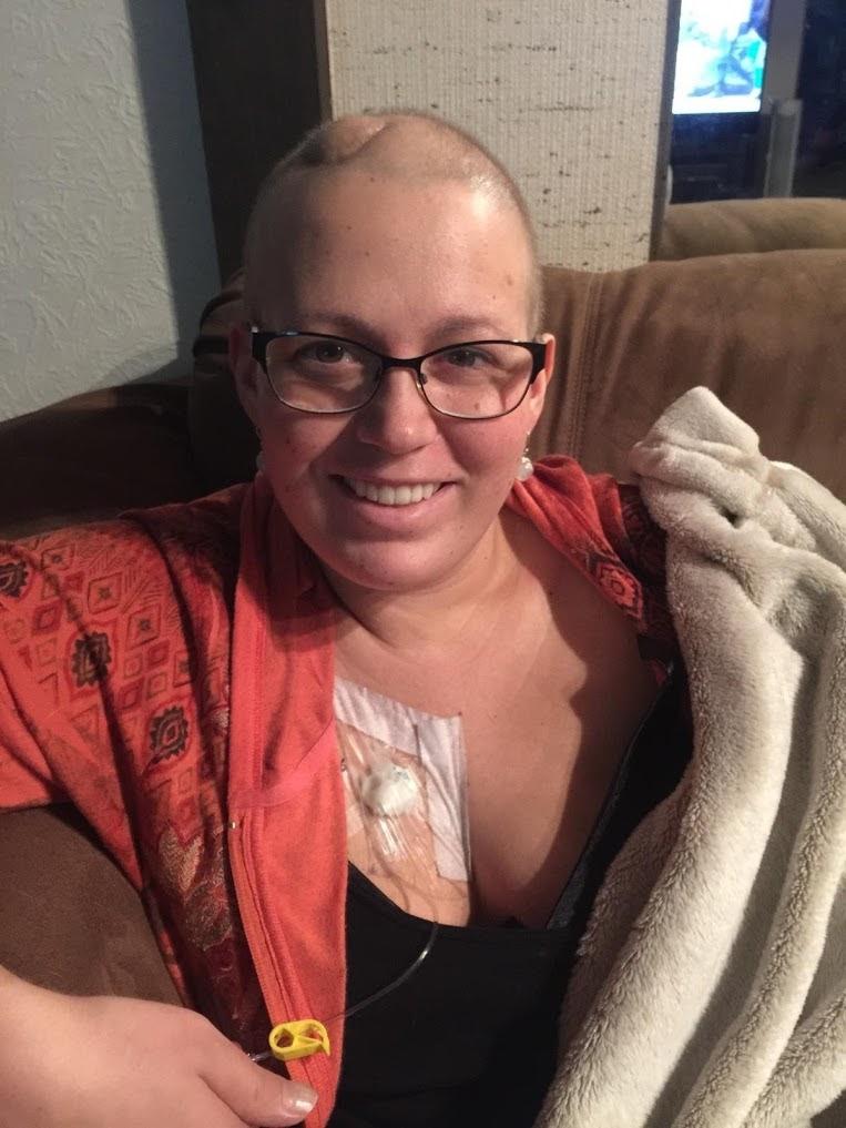 - Sara Collier during treatment.