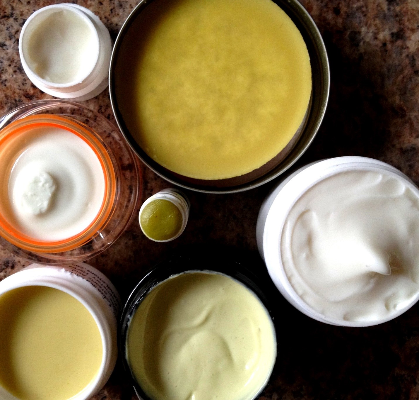 salves are used topically for pain, infection, cuts, bug bites, and more. shown here are a variety, some homemade, some retail. photo: sharon letts