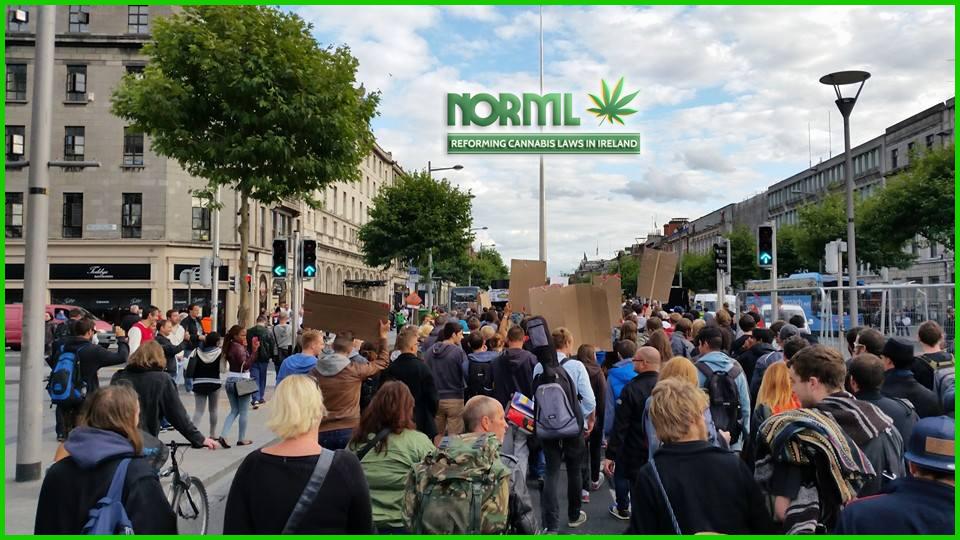 NORML protestors in Ireland.