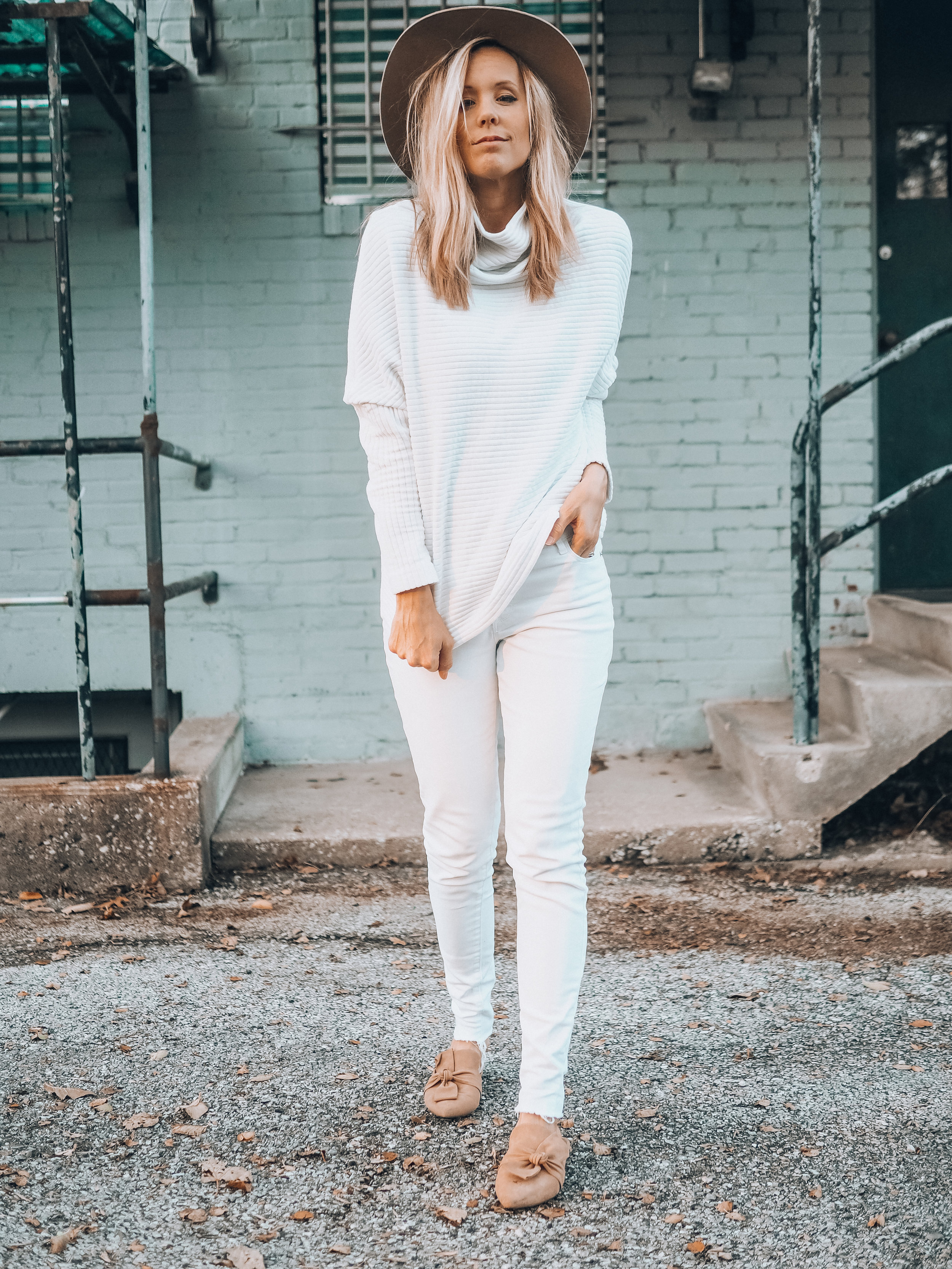 all white thanksgiving look
