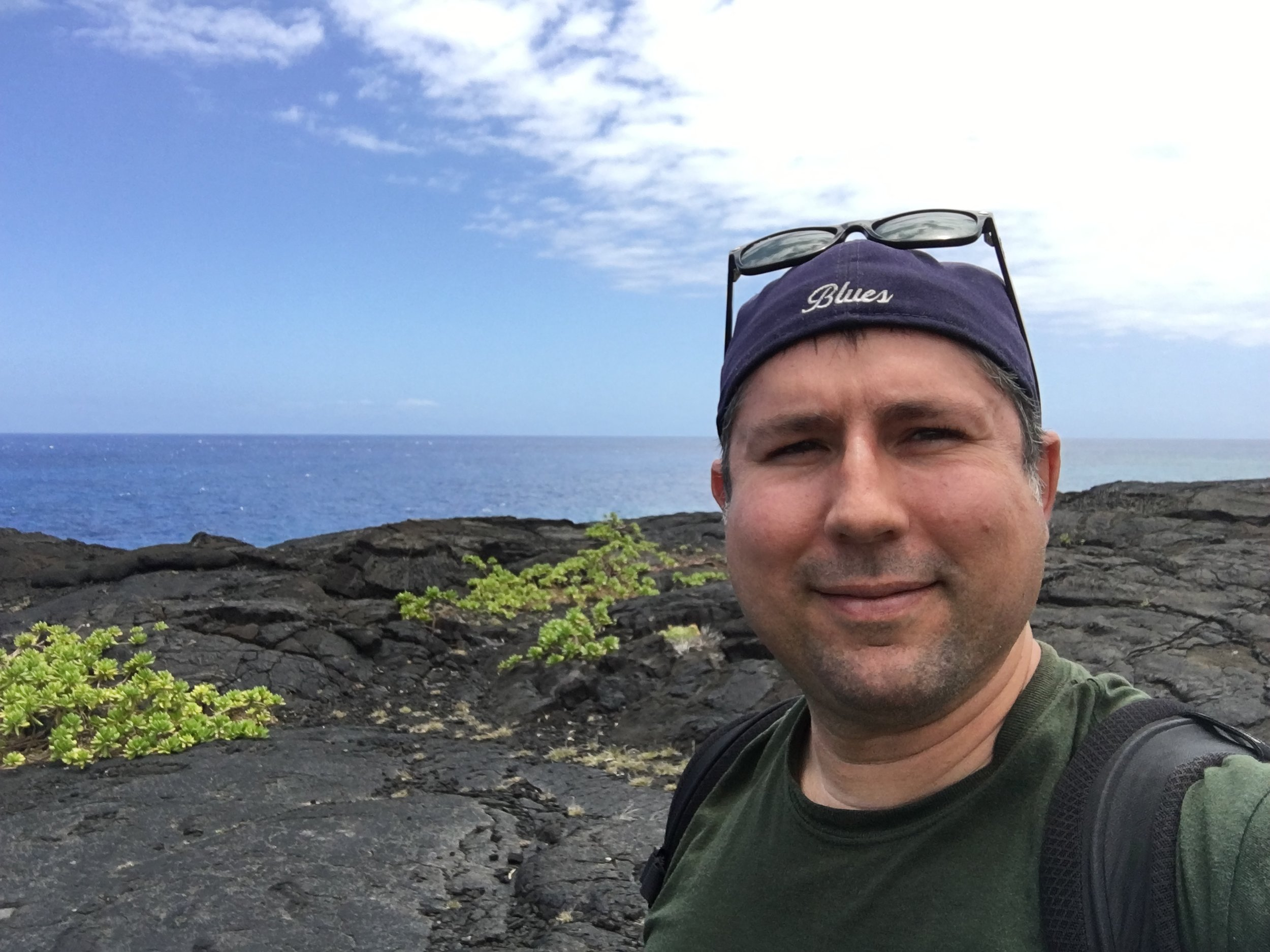 Near the end of the Chain of Craters Road, Hawaii Volcanoes National Park, April 2016.