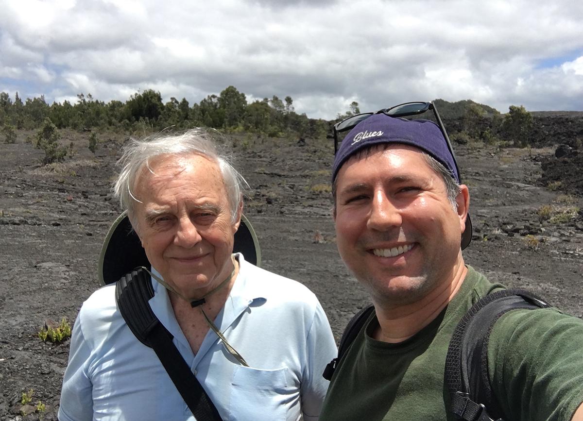 Don Davis and myself, Hawaii Volcanoes National Park, April 2016.
